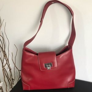 Liz Claiborne red  leather bag